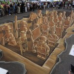 Lego Army 3D Chalk Drawing