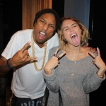 Pharrell & Miley Cyrus In Studio